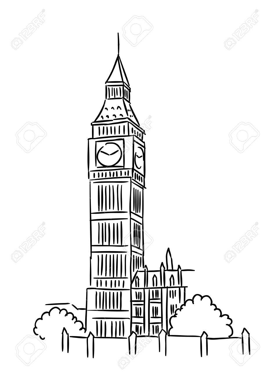 951x1300 Big Ben Tower In London For Travel Industry Design Royalty Free