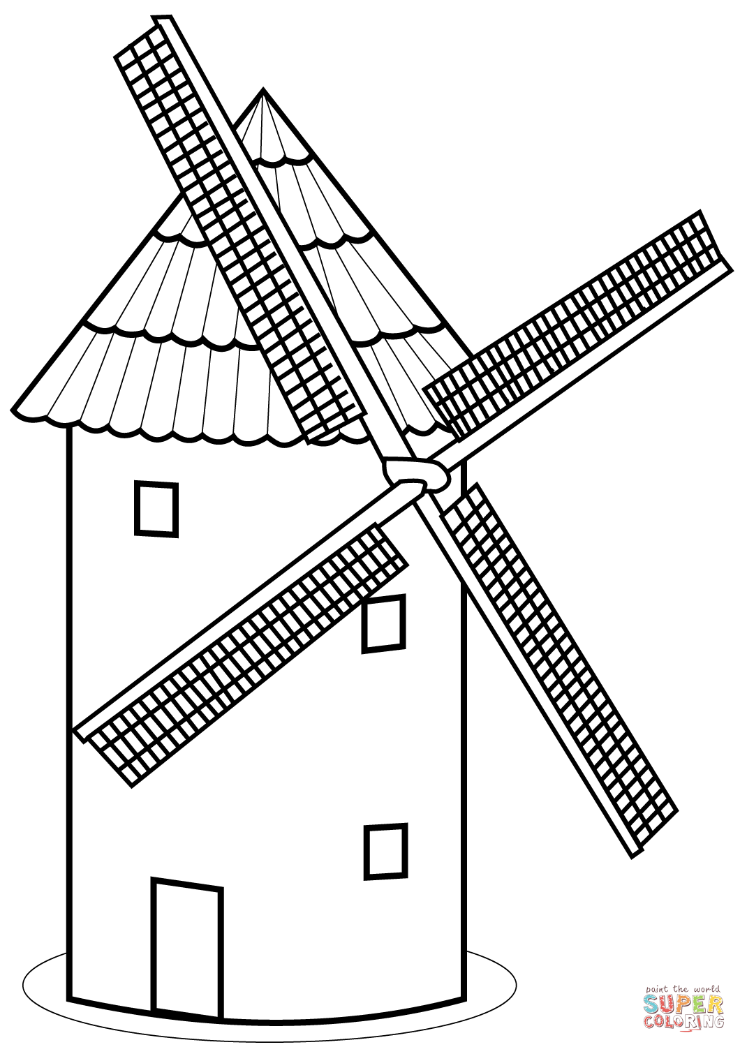 1060x1500 Tower Mill Coloring Page Free Printable Coloring Pages