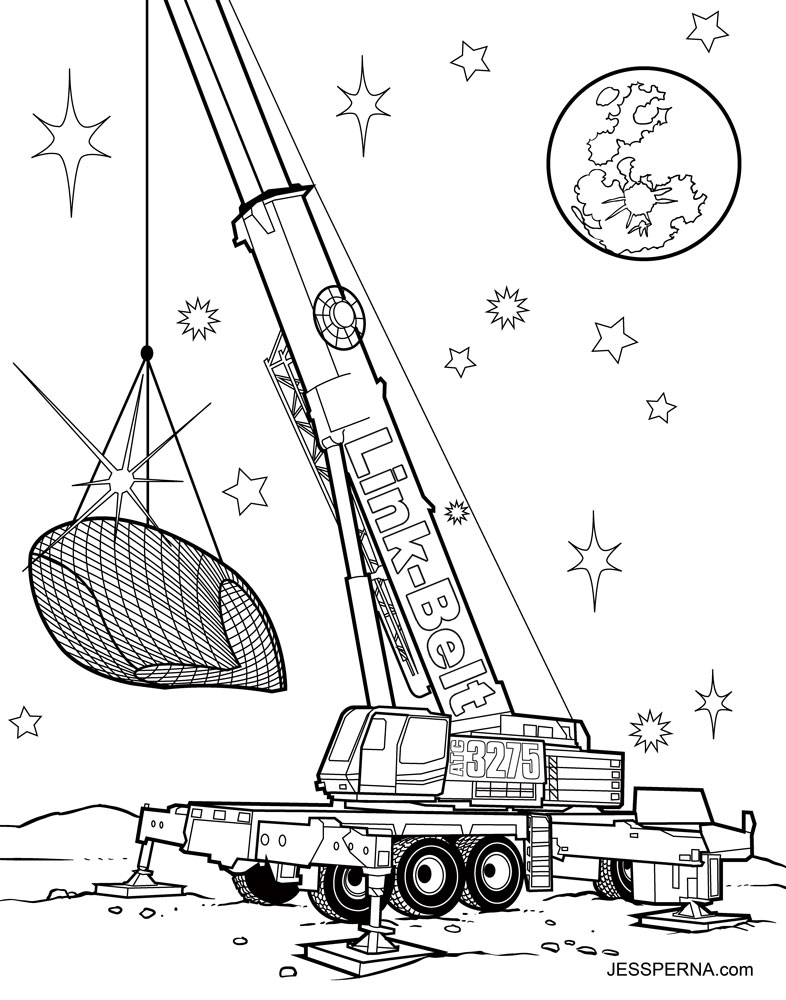 786x1000 Construction Crane Coloring Pages Coloring