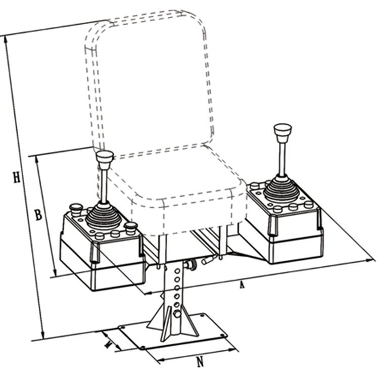 750x750 Tower Crane Operate Chair For Cabin