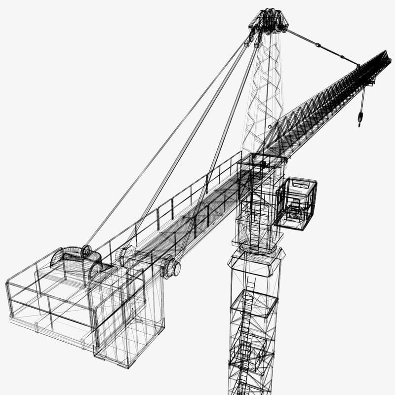 800x800 Model Of Industrial Tower Crane