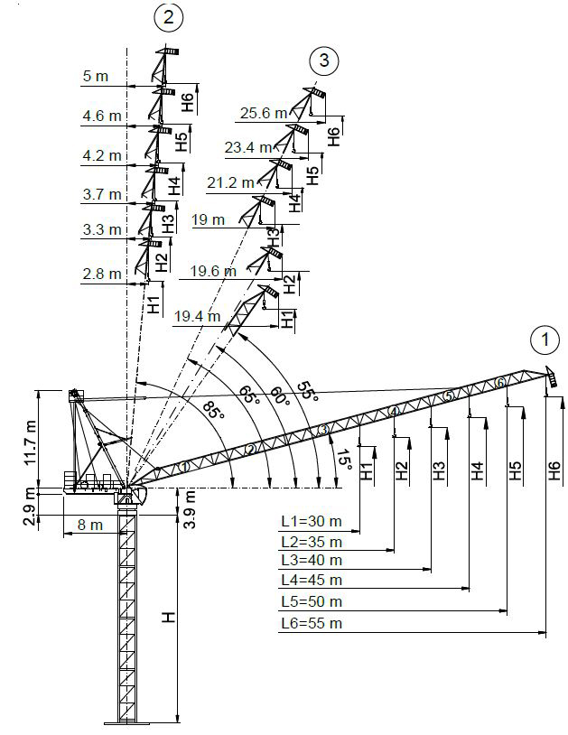 Tower Crane Drawing At Getdrawings Com Free For Personal