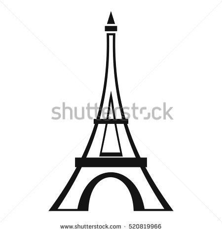 450x470 Drawn Eiffel Tower Simple
