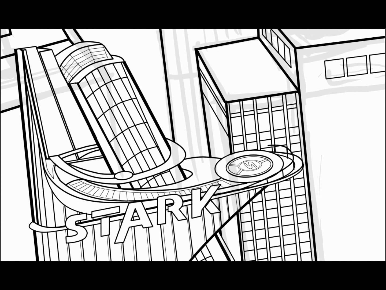 1440x1080 Inking Stark Tower Part 3