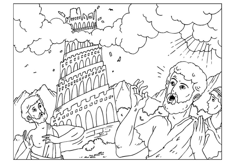 750x531 Coloring Page Tower Of Babel