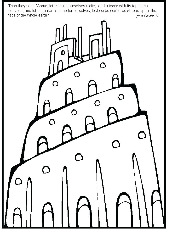 718x957 Stunning Tower Of Babel Coloring Page Free Download Best Ministry