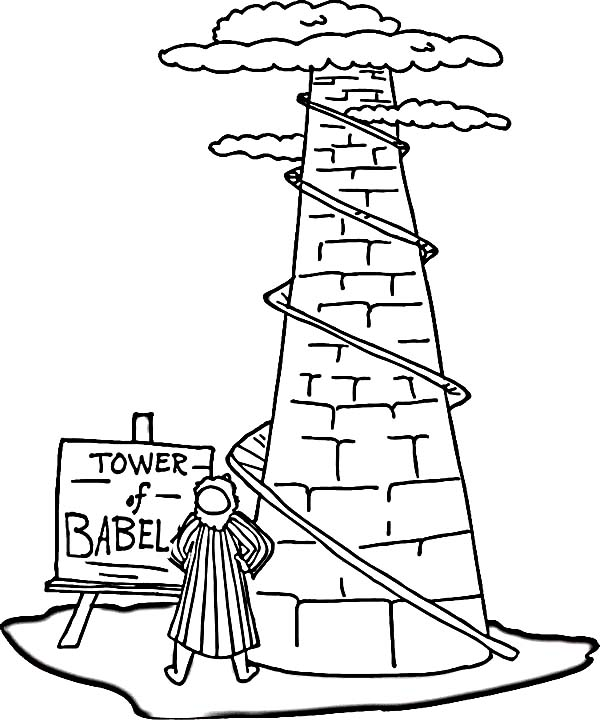 Tower of babel drawing at free for for Tower of babel coloring pages for kids