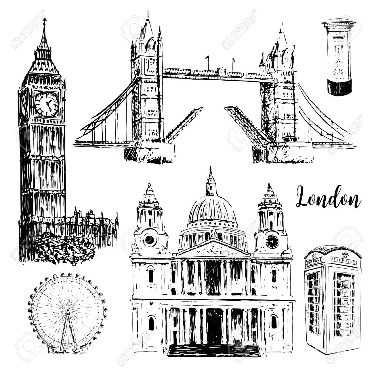 1300x1300 London Architectural Symbols St. Paul Cathedral, Big Ben