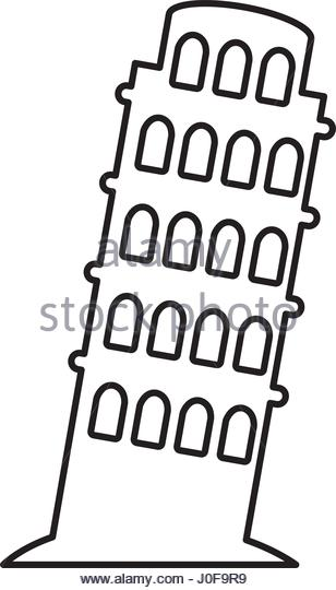 308x540 Silhouette Leaning Tower Pisa Pisa Stock Photos Amp Silhouette