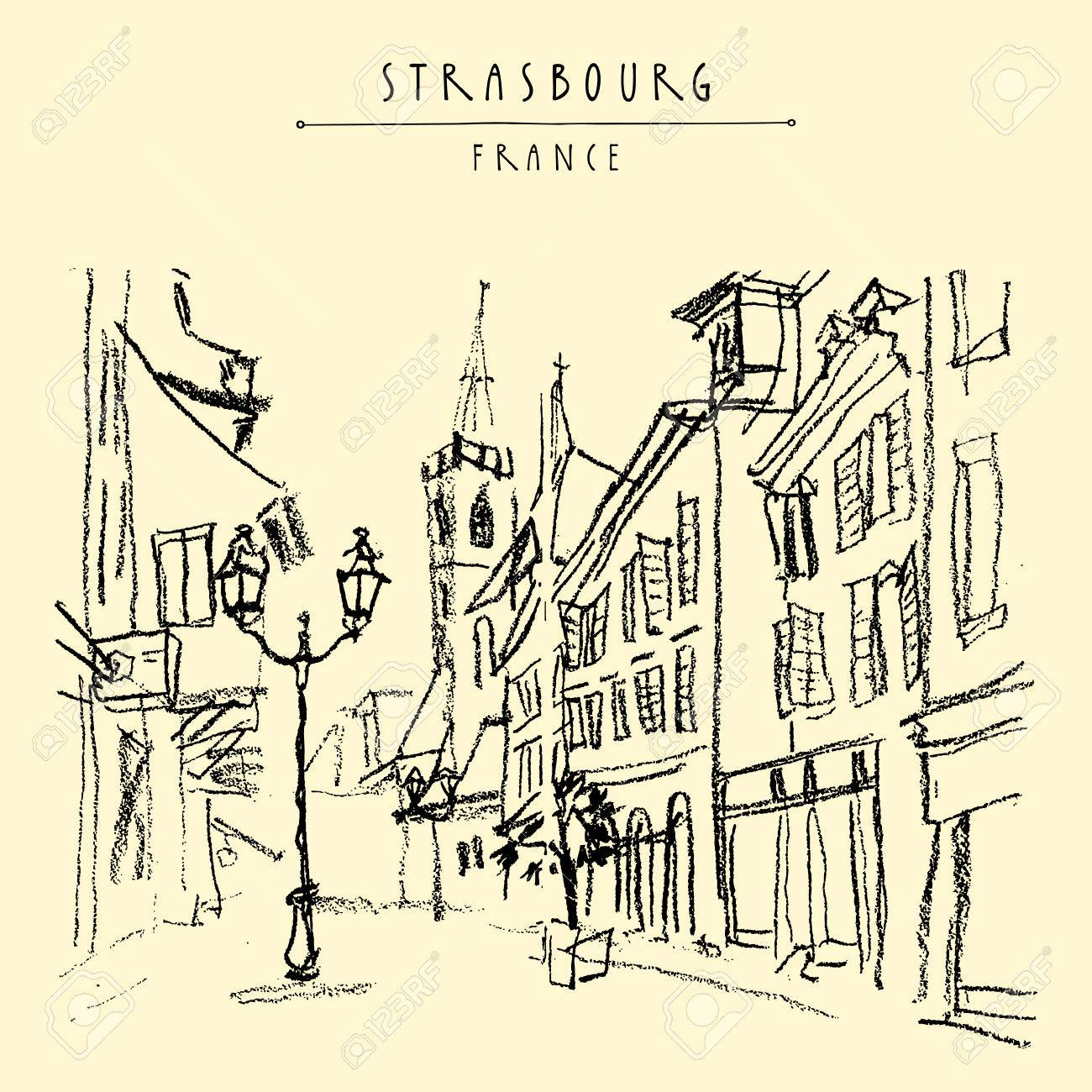 1300x1300 Strasbourg, France, Europe. Pedestrian Street In Old Historic Town