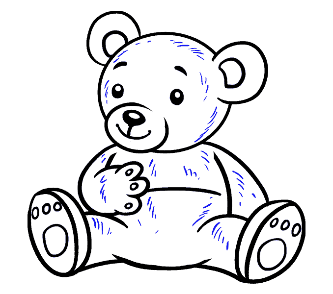 678x600 How To Draw A Cartoon Bear In A Few Easy Steps Easy Drawing Guides