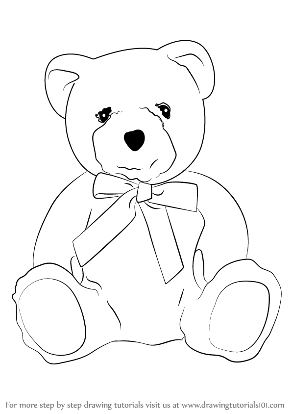 598x844 Learn How To Draw A Teddy Bear (Soft Toys) Step By Step Drawing