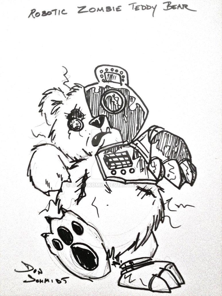 774x1032 Robotic Zombie Teddy Bear By Bujinkomix