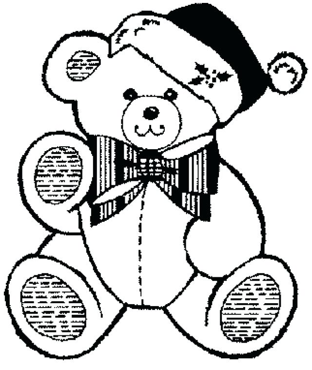 640x759 Teddy Bear Color Page This Coloring Page For Kids Features A Cute