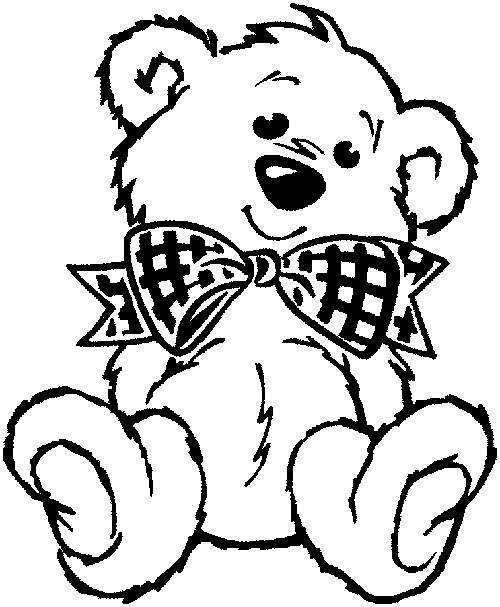 500x607 Teddy Bear Coloring Pages 7