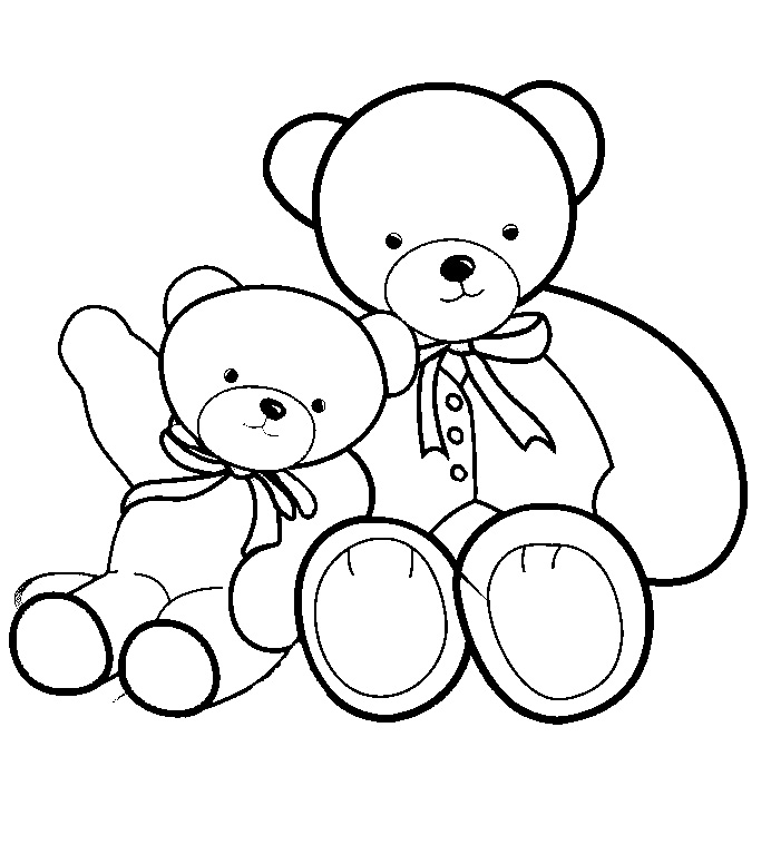 692x768 Coloring Doll Teddy Bear Dolls Pages