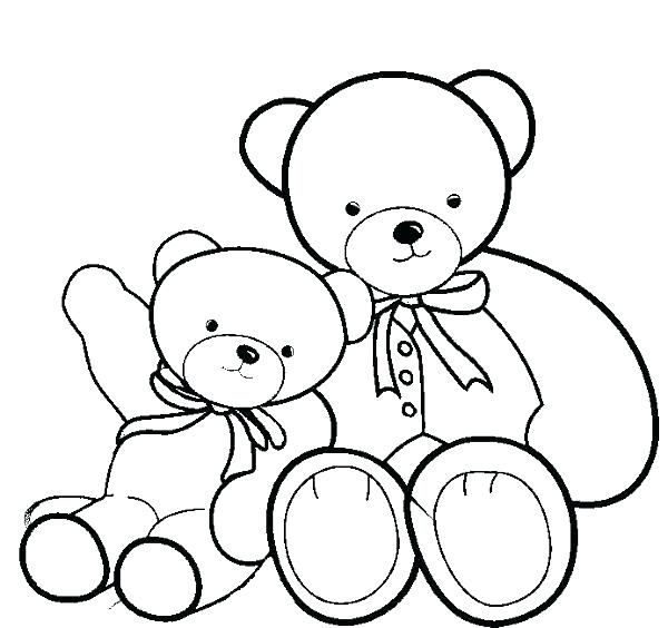 600x564 Free Teddy Bear Coloring Pages Printable Teddy Bear Coloring Pages