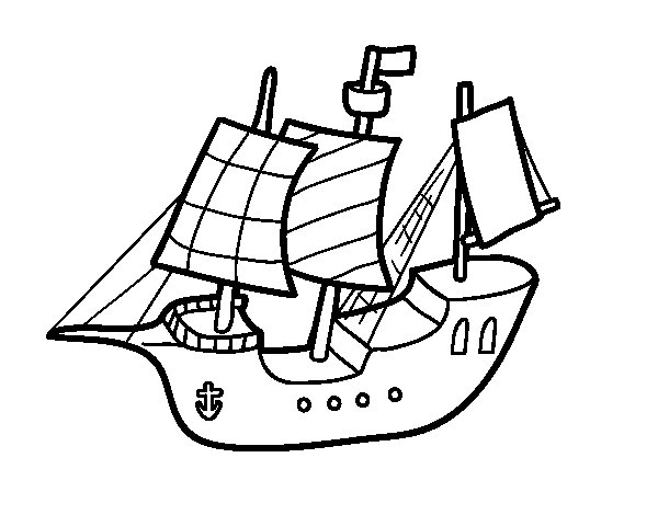 600x470 Toy Boat Coloring Page