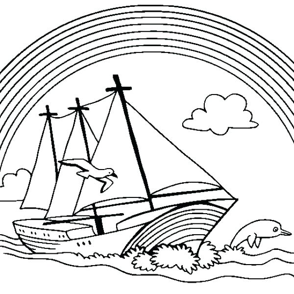 600x600 Coloring Pages Boats