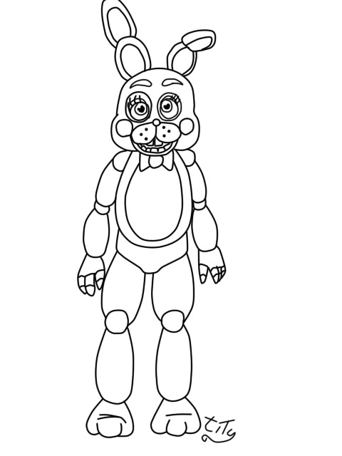 480x640 Five Nights At Freddys2 Toy Bonnie By Titygore
