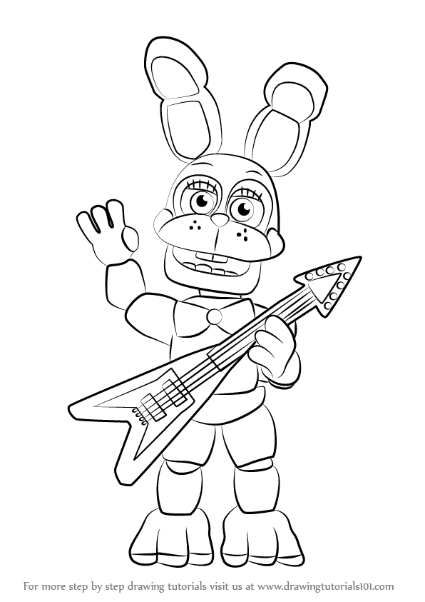 596x843 Learn How To Draw Toy Bonnie From Five Nights