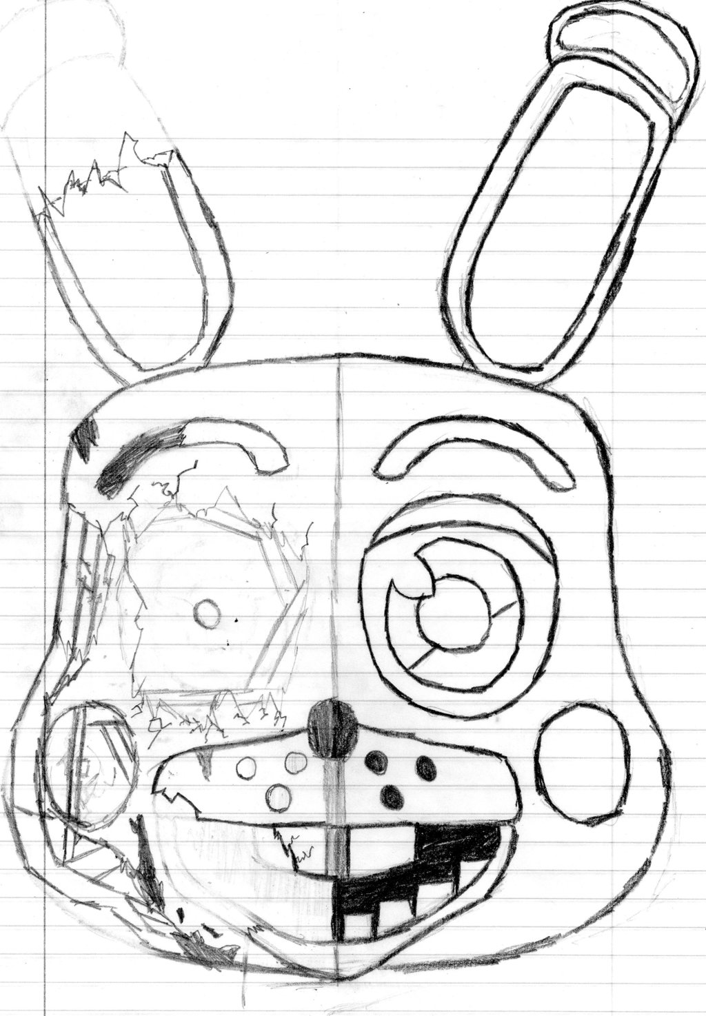 1024x1474 Toy Bonnie Sketch By Brenttheproud
