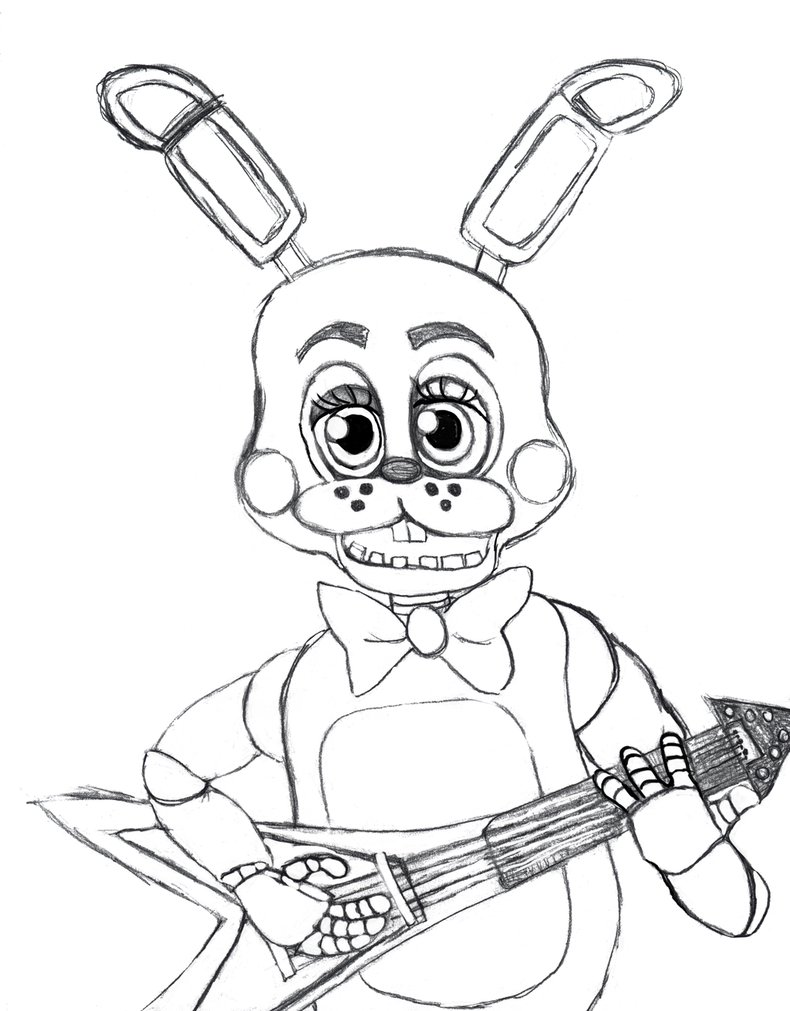 790x1011 Toy Bonnie From Five Nights At Freddy's 2. By Bunny Gypsy