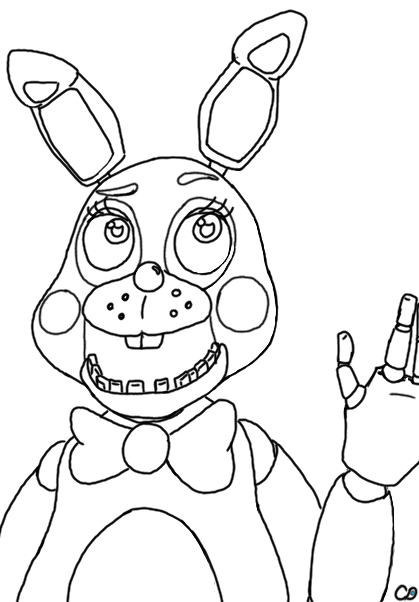419x602 Toy Bonnie Outline By Chrissychaosmonster