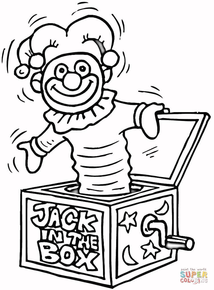 750x1014 Jack In The Box Toy Coloring Page Free Printable Coloring Pages