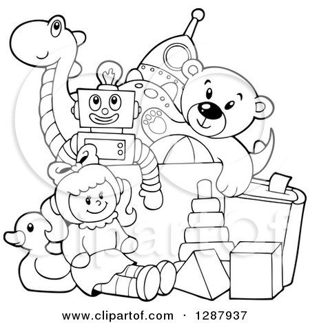 450x470 Royalty Free (Rf) Toy Box Clipart, Illustrations, Vector Graphics