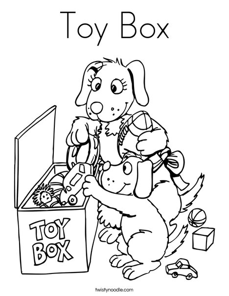 468x605 Toy Box Coloring Page