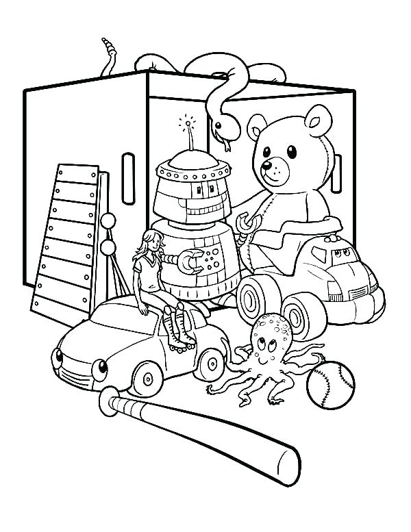 600x777 Toy Coloring Pages Coloring Pages Toys Toy Coloring Pages Box Full