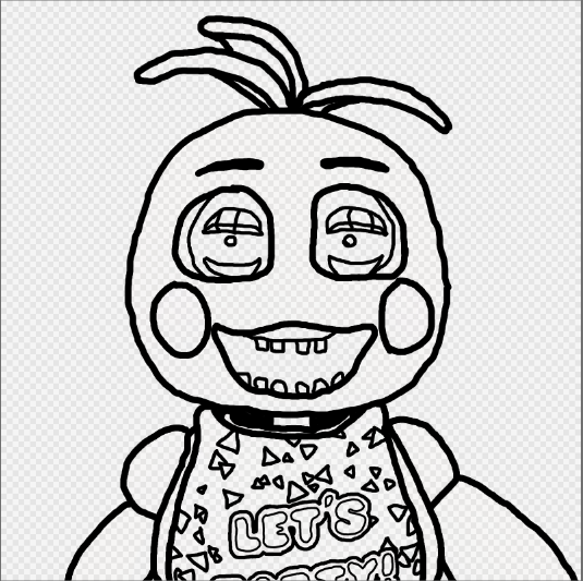 535x533 Toy Chica Coloring Page! By Scarletgamerartist
