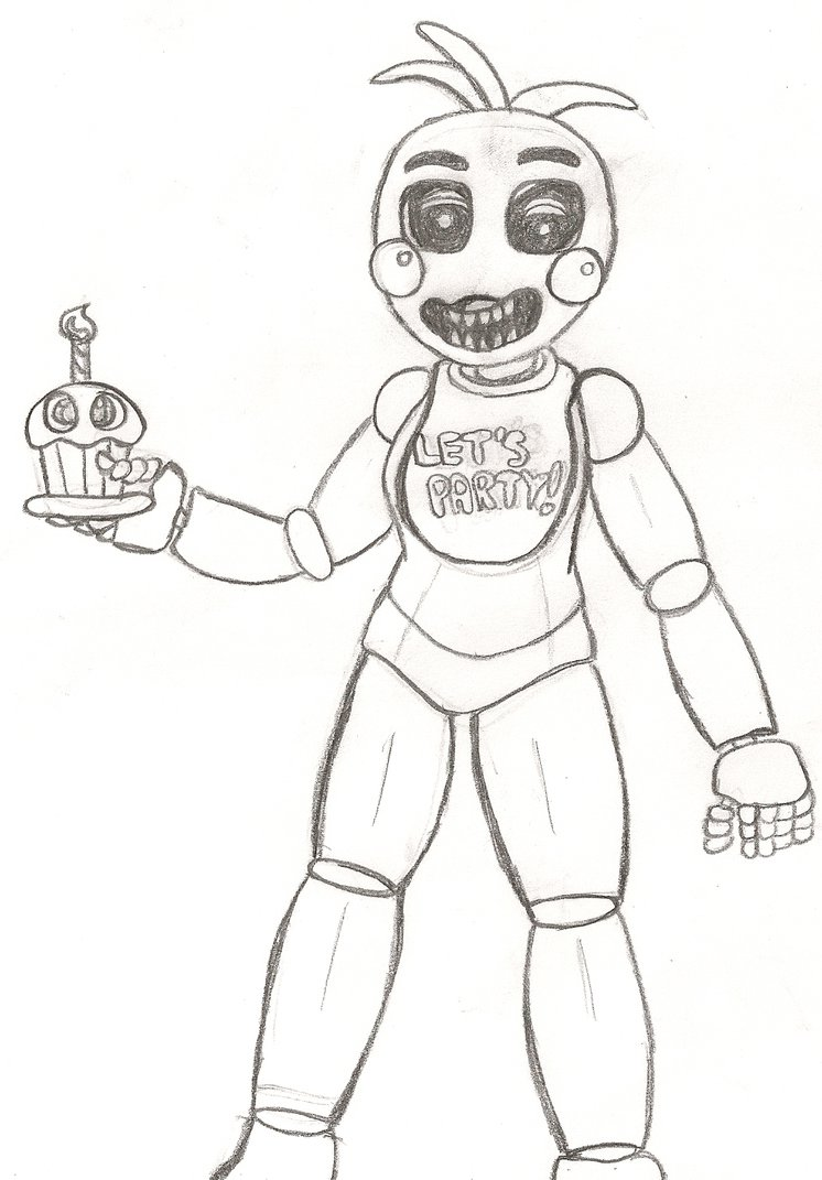 746x1071 Toy Chica And Her Cupcake By Purplelover7