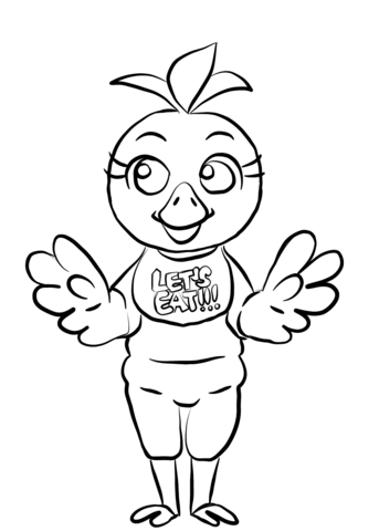 343x480 Fnaf Chica Coloring Page Free Printable Coloring Pages