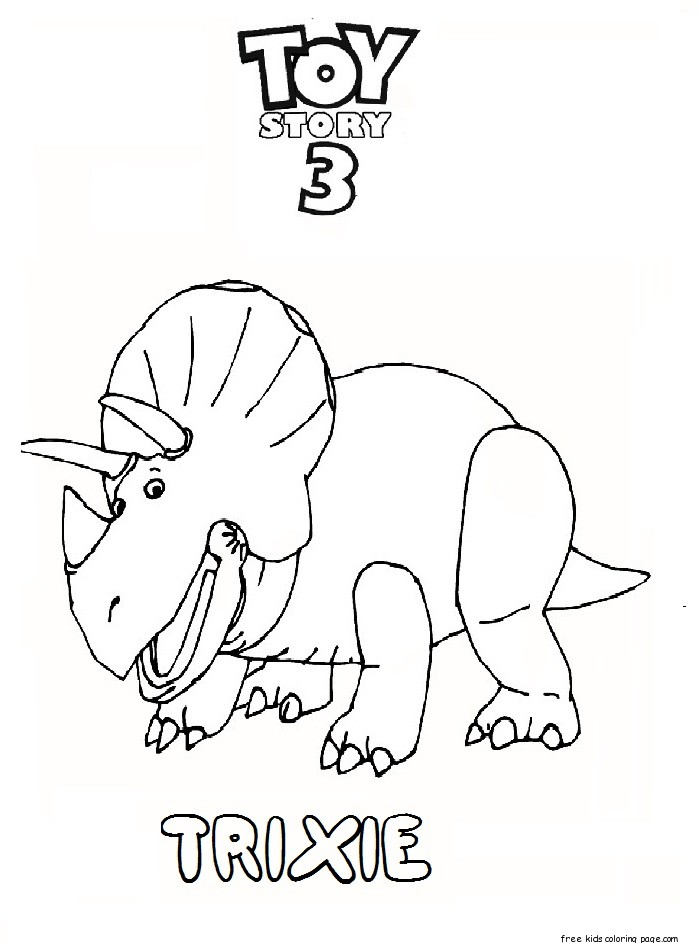 698x943 Printable Toy Story 3 Trixie Coloring Pages For Kidsfree Printable