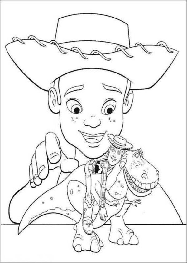 600x841 Toy Story 3 Andy And His Toys Coloring Pages