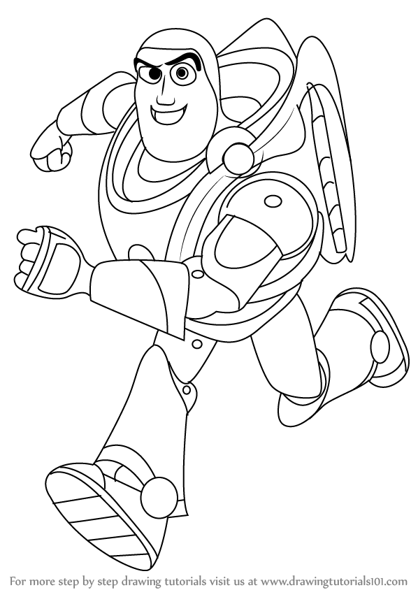 598x844 Learn How To Draw Buzz Lightyear From Toy Story (Toy Story) Step