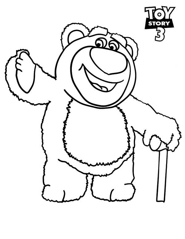 600x776 Meet Lots O Huggin Bear In Toy Story 3 Coloring Page