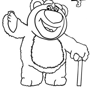 Toy Story Cloud Stencil Sketch Coloring Page