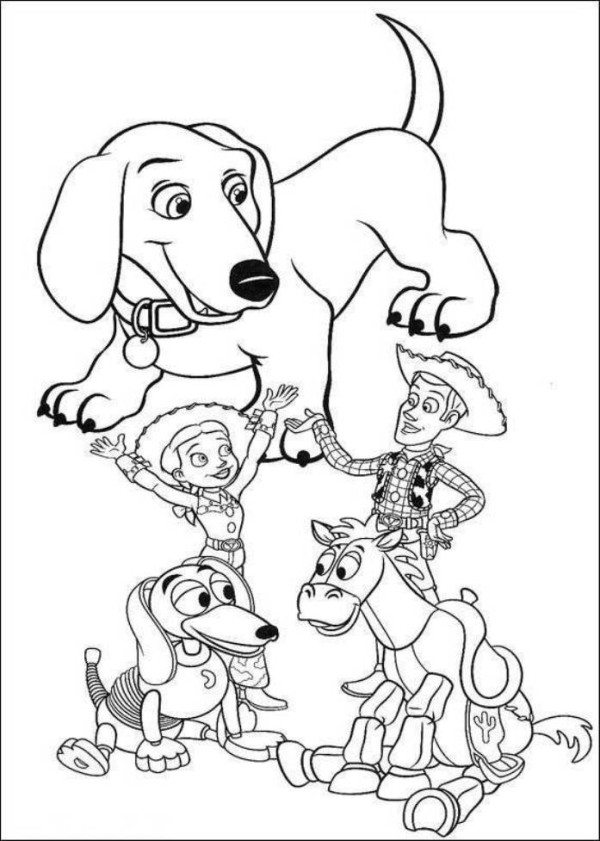 600x841 Toy Story 3 Characters Coloring Pages