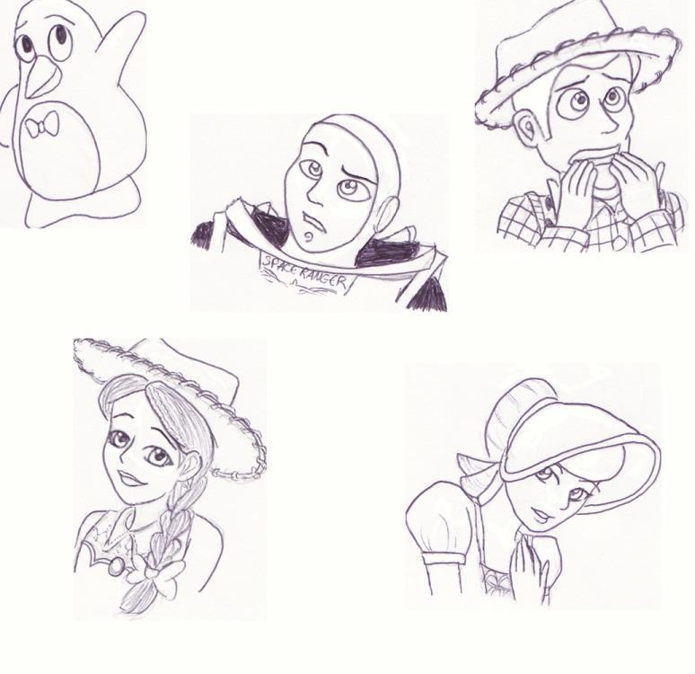 774x750 Toy Story Characters By Kionakina