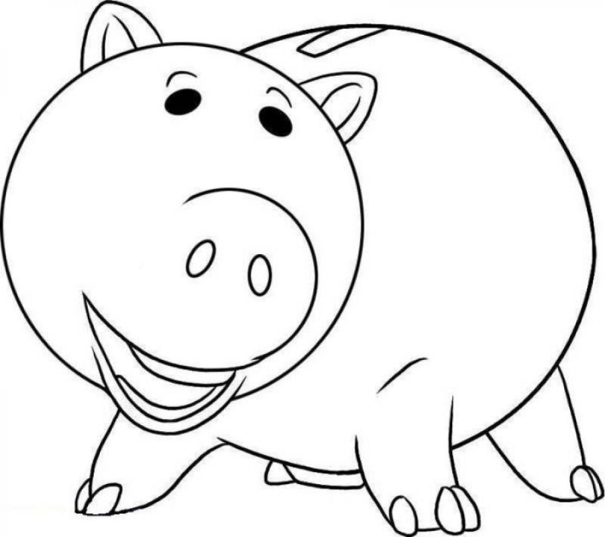 1200x1065 Toy Story Hamm Character Free Coloring Page Disney, Kids, Toy