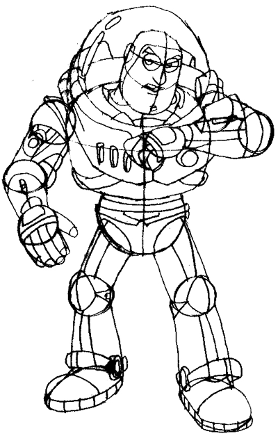 400x627 How To Draw Buzz Lightyear From Toy Story 1,2, And 3 With Easy