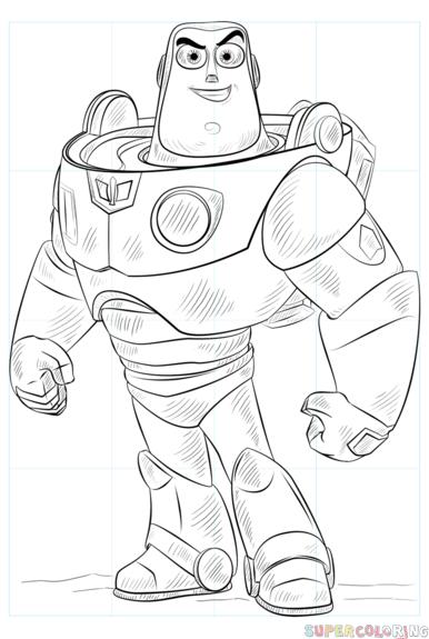 386x575 How To Draw Buzz Lightyear Step By Step Drawing Tutorials