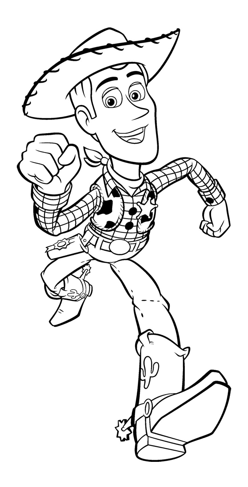 870x1704 Toy Story Woody Runs Fast Coloring Page For Kids Kids Coloring