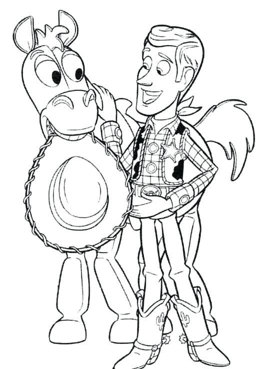 538x736 Woody Toy Story Coloring Page Genesisar.co