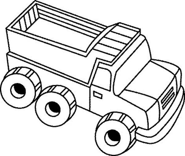 Toy truck drawing at free for personal for Toy coloring page