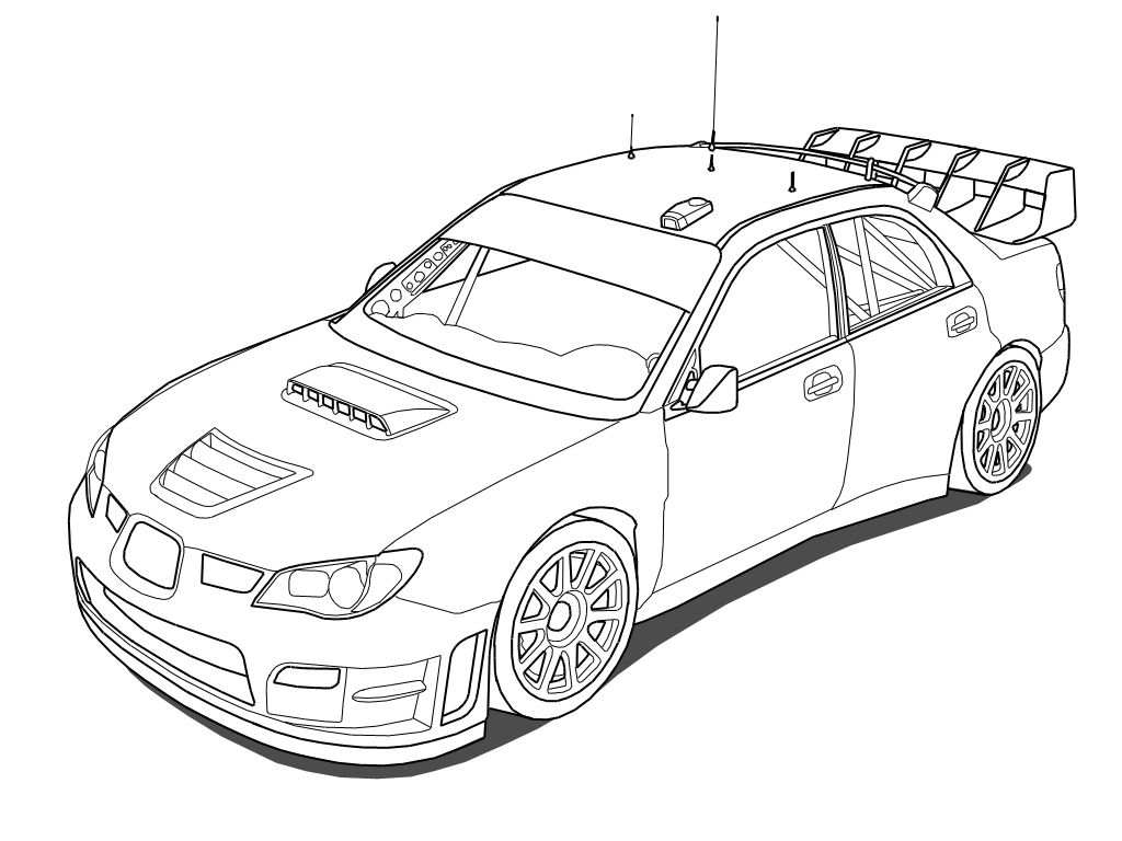 1024x768 Subaru Impreza Rally Car Coloring Pages Chcem Si