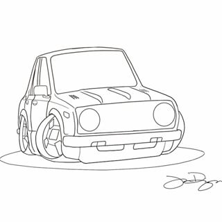 320x320 Toyota Corolla Drawing